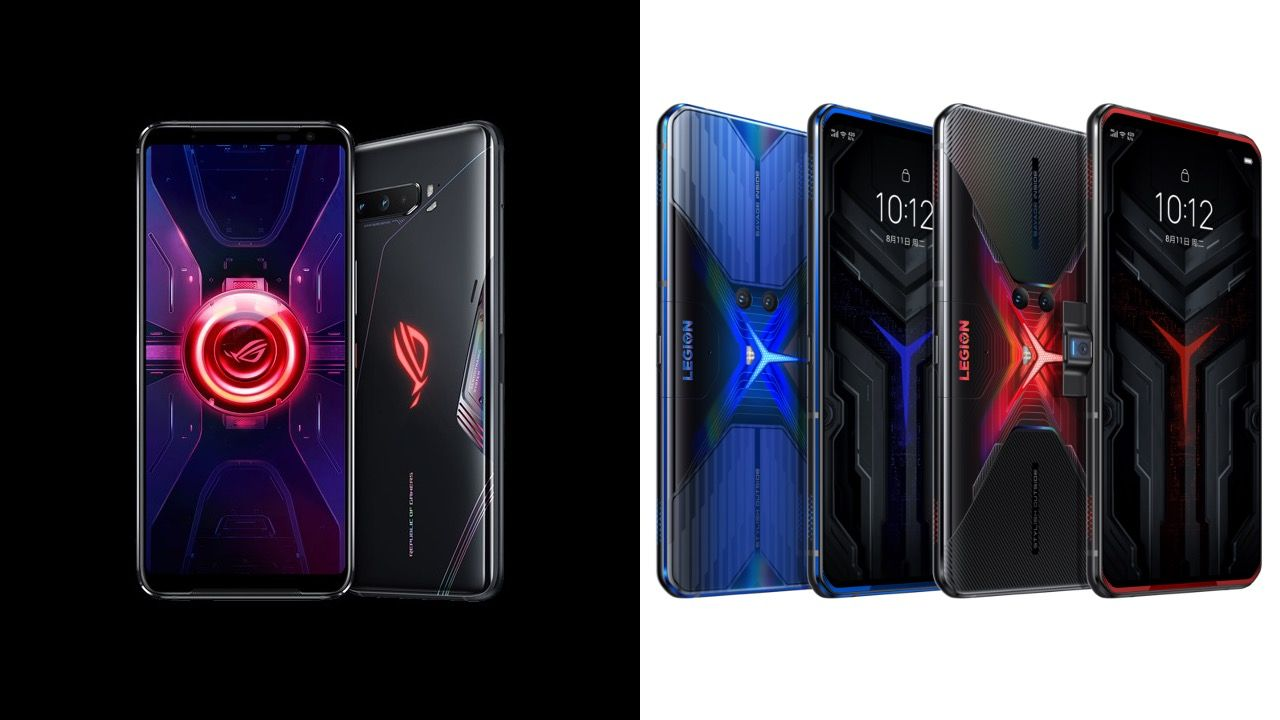 Asus ROG Phone Three vs Lenovo Legion Phone Duel: specs and options in contrast