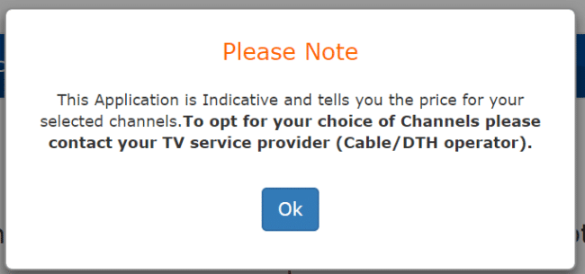 trai channel selection siti cable