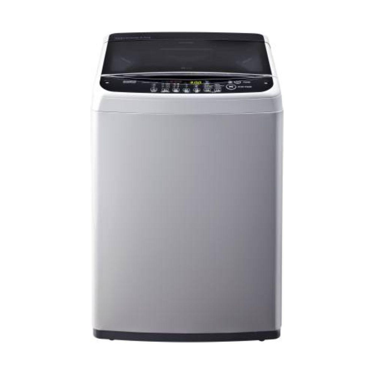 एलजी 6.5 kg Inverter Fully-Automatic टॉप Loading Washing Machine Silver (T7581NDDLG)