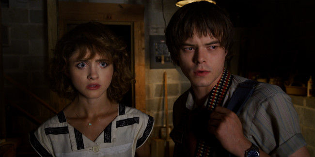 Shot of Nancy and Jonathan in Stranger things 3