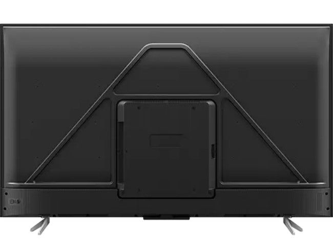 The back of the TCL TV has a unique design.