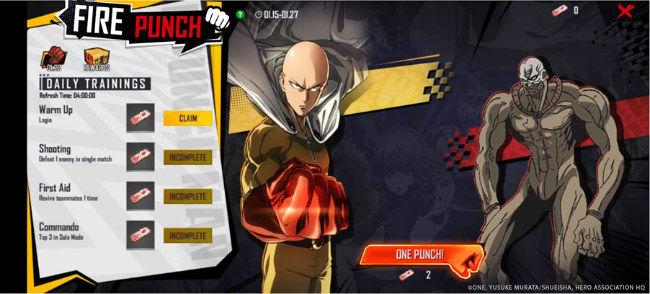 Itens temáticos do One-Punch Man