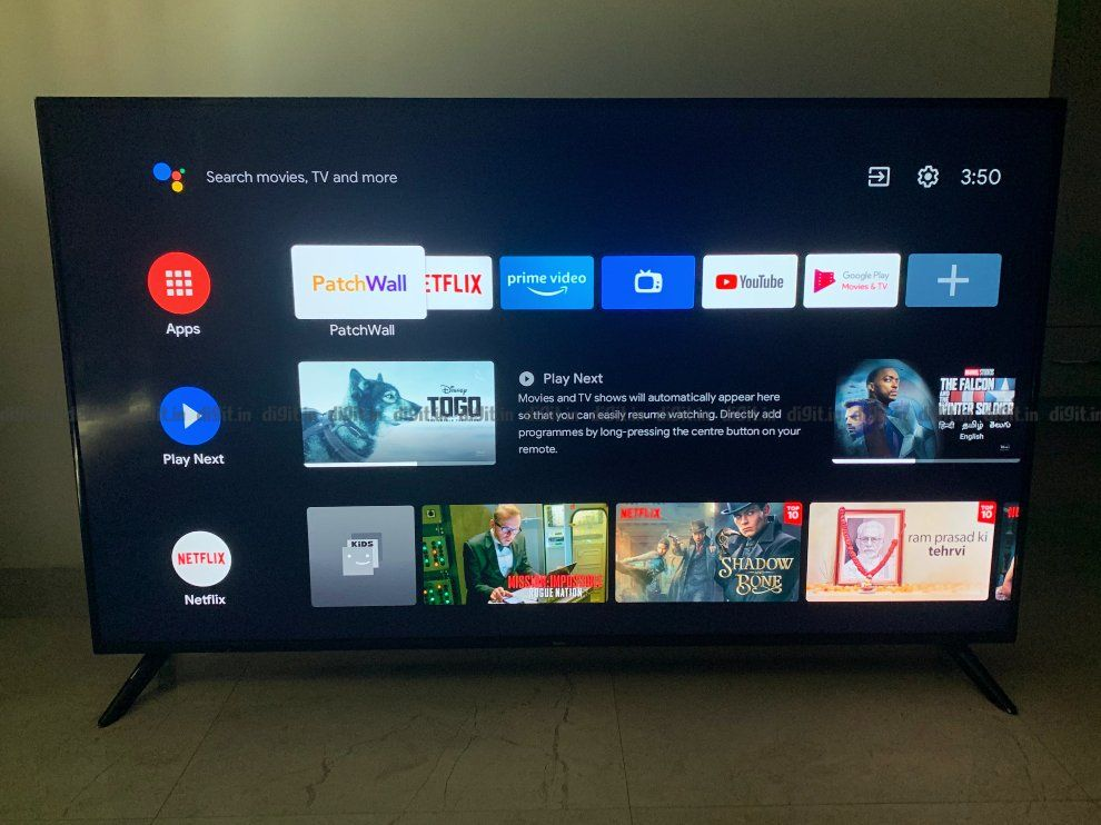 The Redmi Smart TV X65 runs on Android 10.