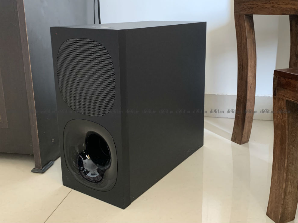 The Subwoofer is loud and has deep bass.