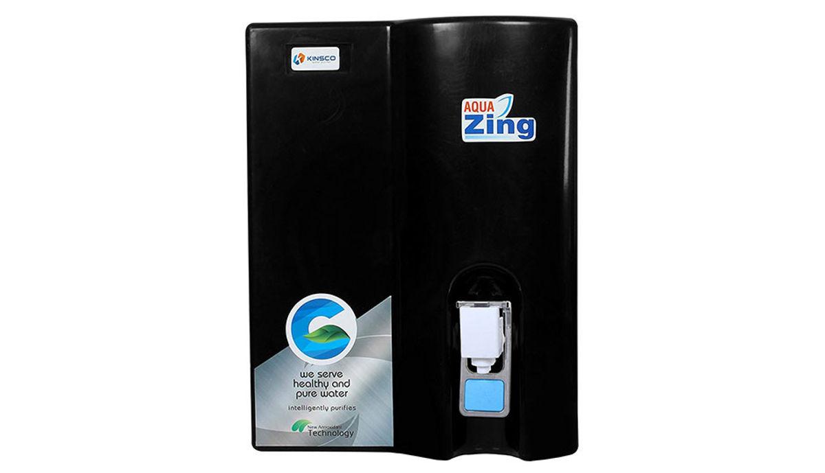 Kinsco Aqua Zing Alkaline 10 L RO Water Purifier (Black)