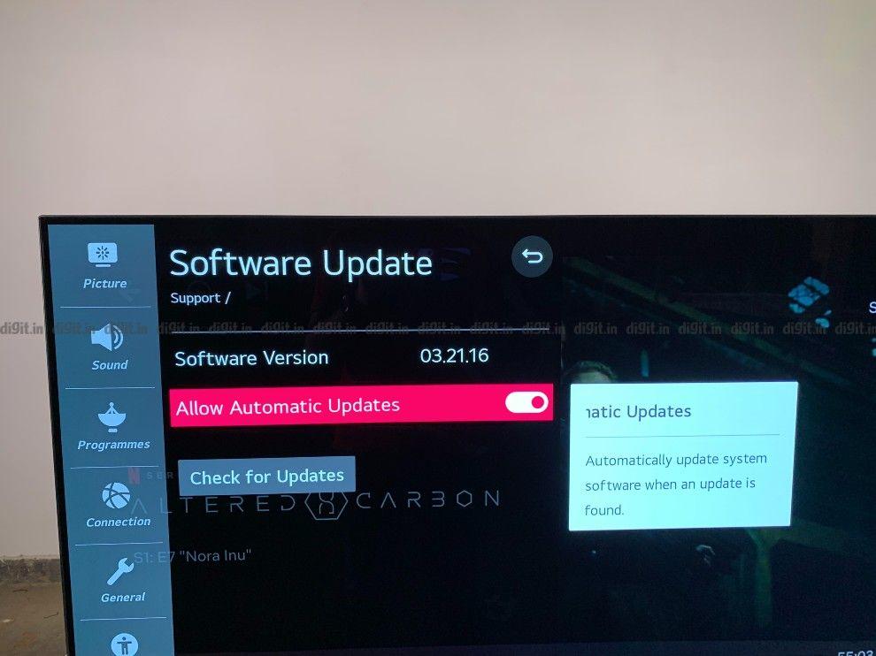 The LG CX receives regular software updates.
