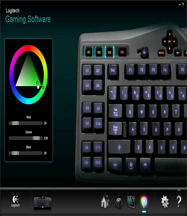 logitech g110 how to change color