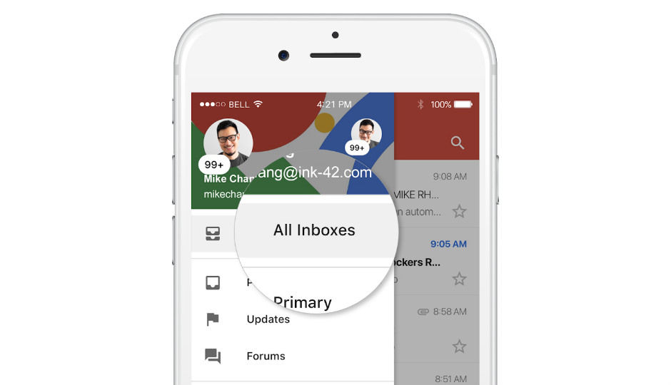 Gmail for iOS users can now toggle between multiple accounts
