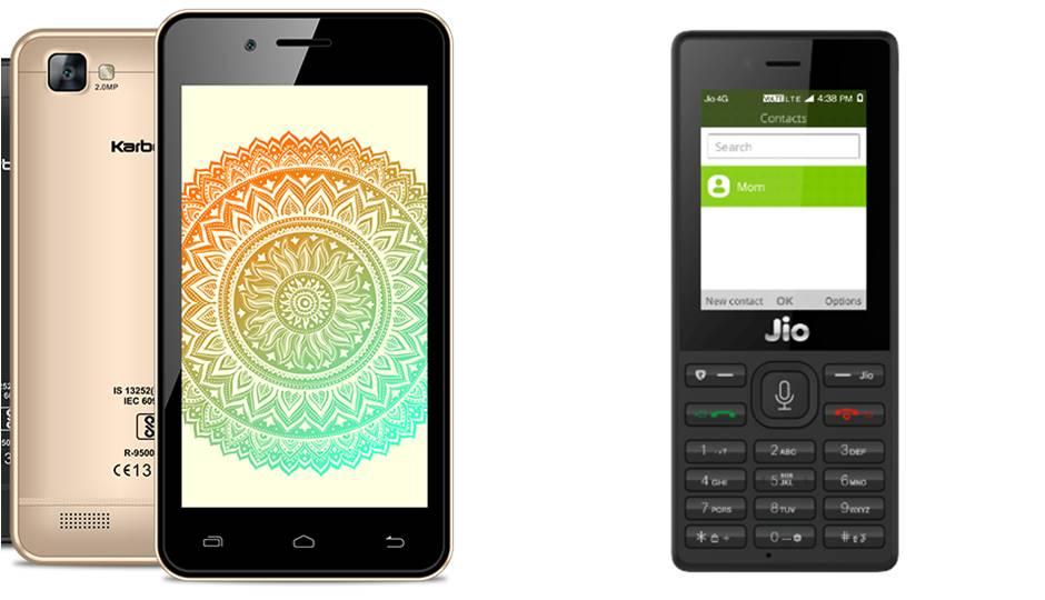 Reliance JioPhone Versus Airtel Karbonn A40 Indian Rs 1500 Smart