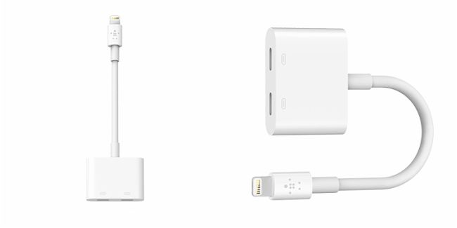 new styles 04cc3 8a9e1 This Belkin Lightning adapter for iPhone 7 lets you charge and ...