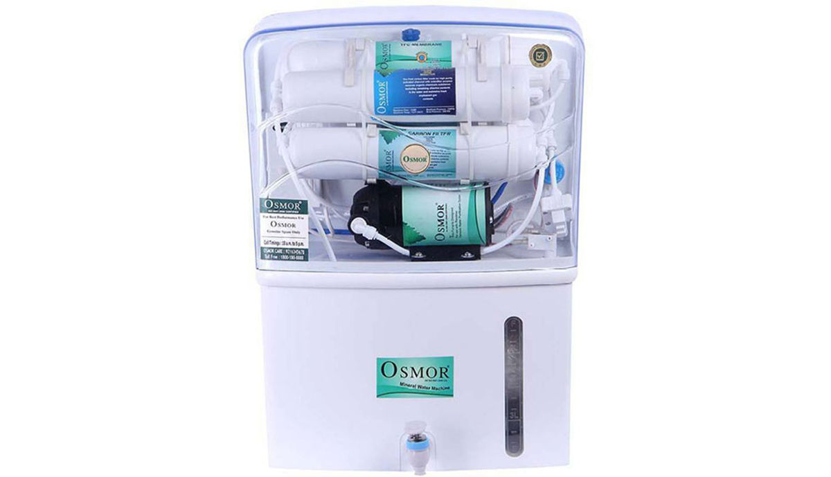 Osmor super crystal diamond RO+TDS+UV+ Mineral enhancer with 10 Liters Capacity 10 L RO + UV Water Purifier (White)