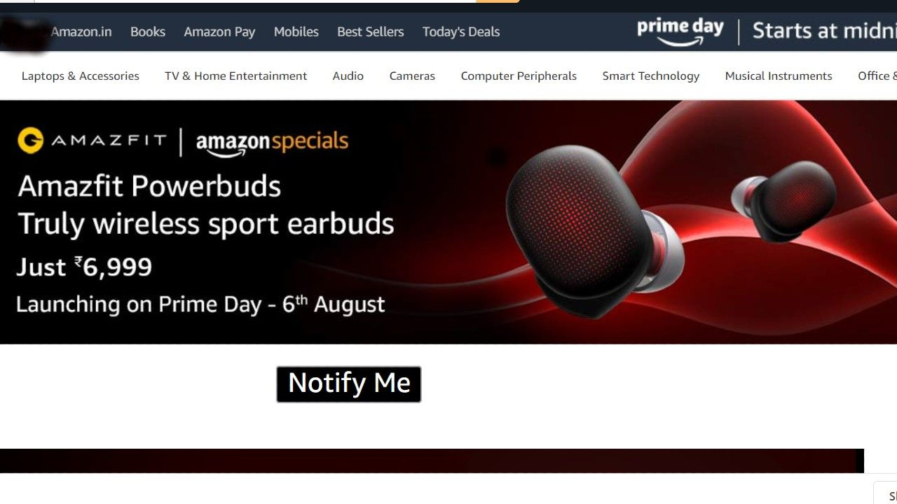 Amazon prime day Sale 2020 amazfit Launches Earbuds