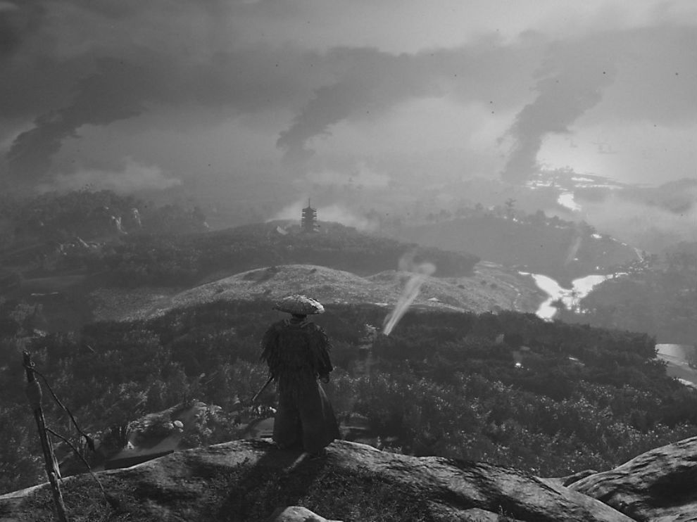 Ghost of Tsushima can be played in black and white mode.