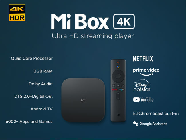 A quick look at the specifications and features of the Mi Box 4K