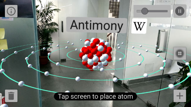 Atom Visualizer is the first ARCore app on Google Play Store