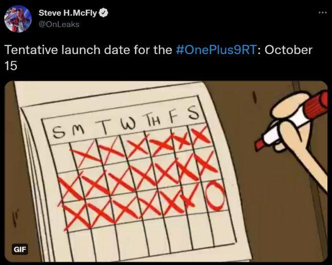 OnePlus 9RT India launch specs features price