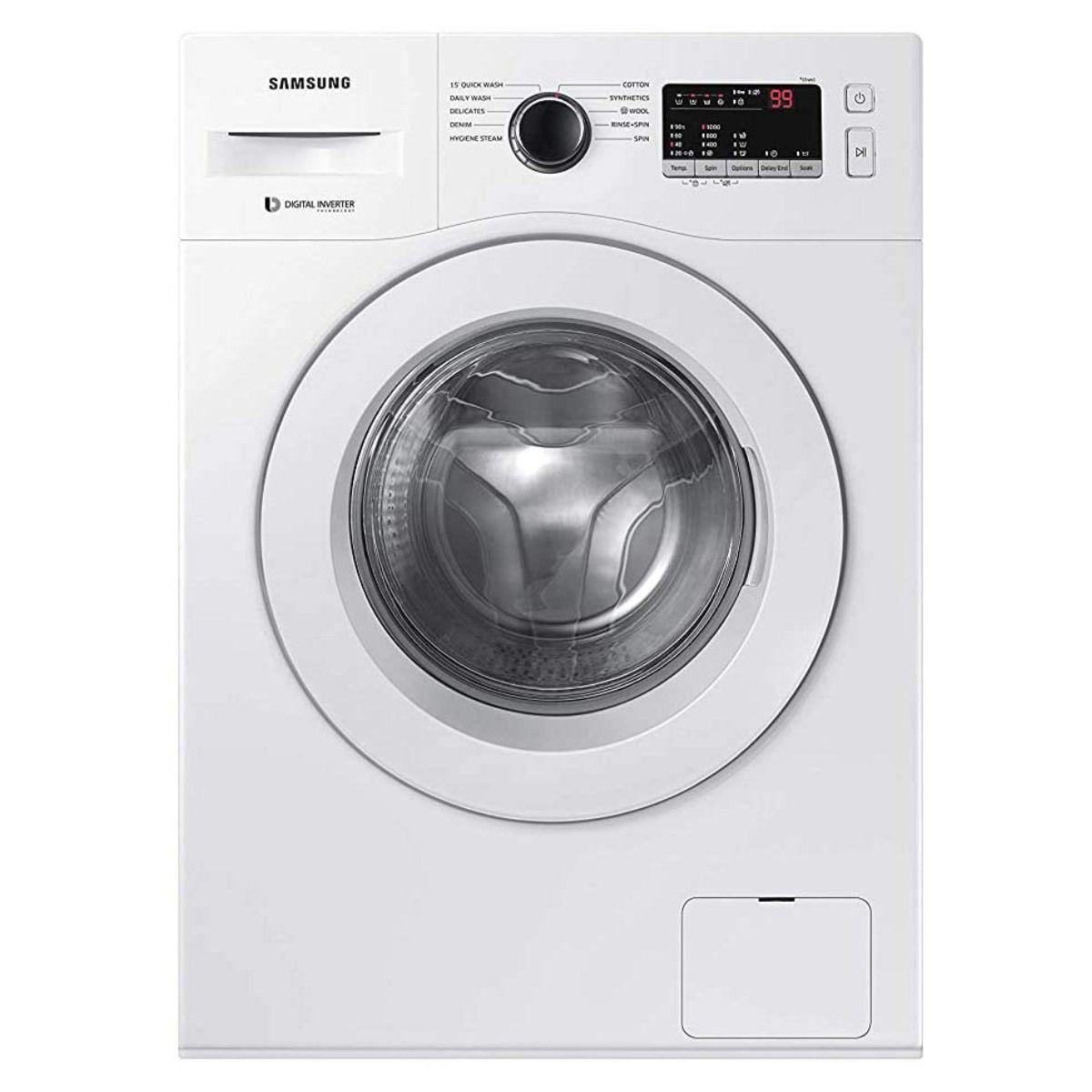 சேம்சங் 6.5 Kg Fully-Automatic Front Loading Washing Machine (WW65R20GLSW/TL)