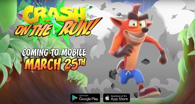 Crash Bandicoot: On the Run mobile game for Android and iOS