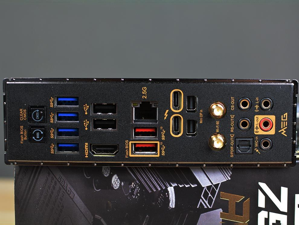 MSI MEG Z590 ACE Gaming Motherboard Rear I/O for Intel 11th Gen