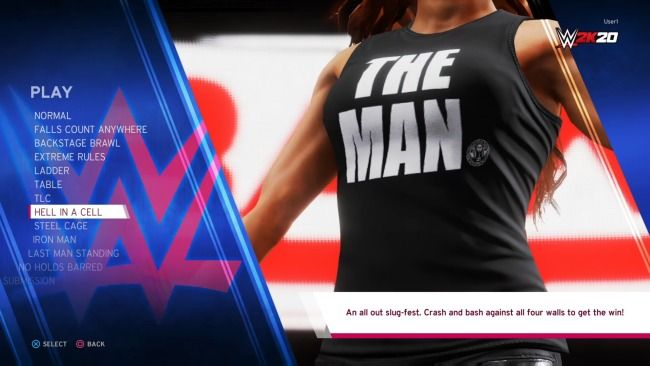 WWE 2K20 Main Menu