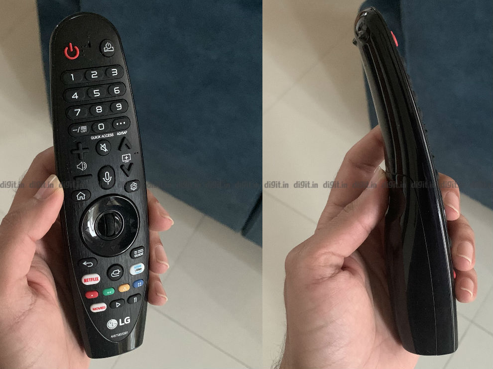 The LG GX has the same remote as last year's LG C9.