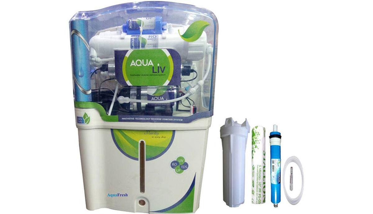 Aqua Fresh Aqua Liv 12 L RO + UV + UF + TDS Water Purifier (White)