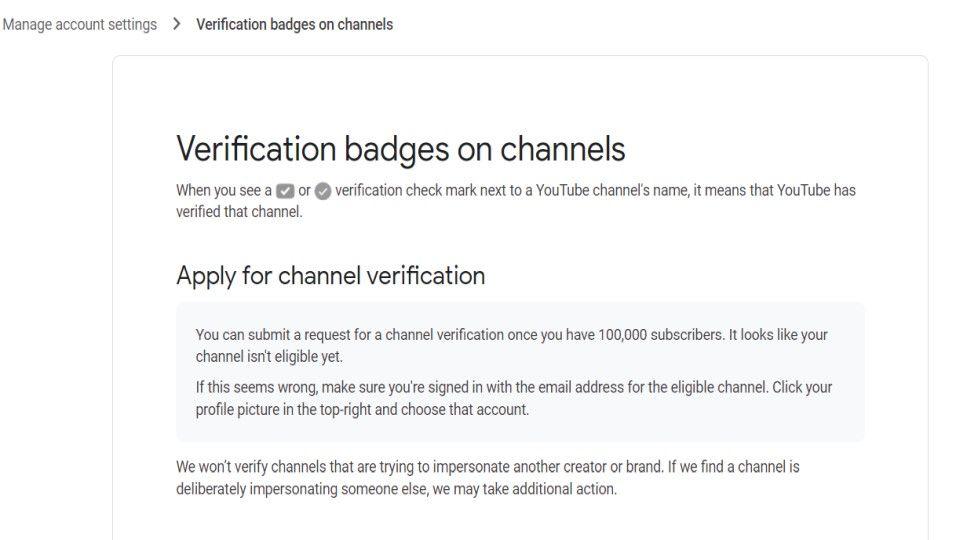 YouTube verification badge