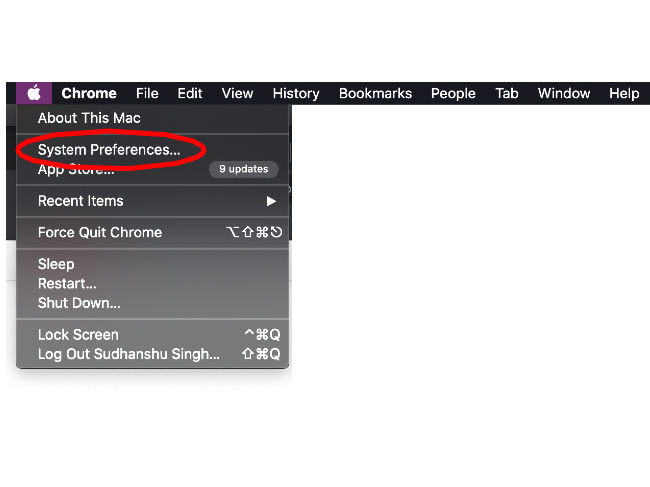 Go to system preferences.