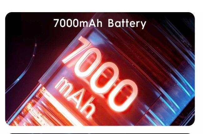 7000mAh battery