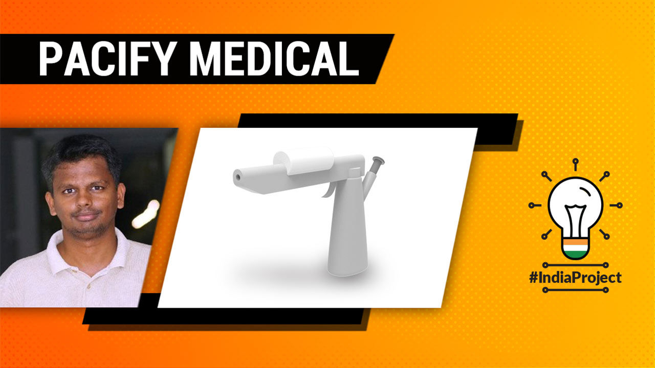Startup Pacify Medical develops skin spray gun