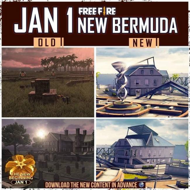 Bermuda map free fire