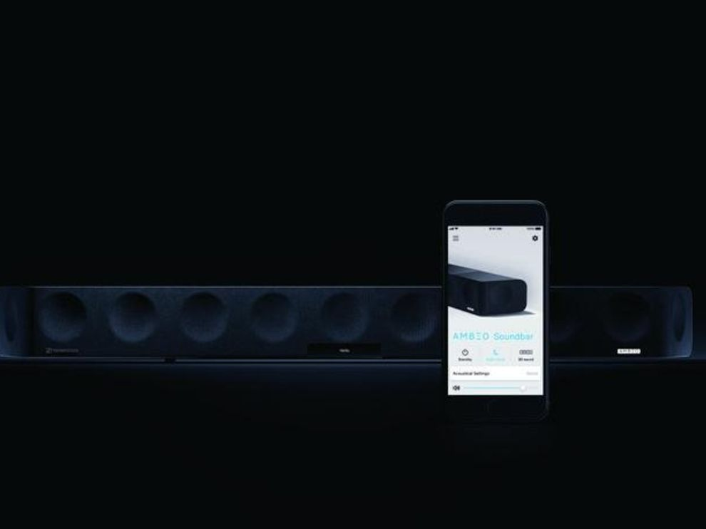 You can control the Sennheiser Ambeo with the companion soundbar app.