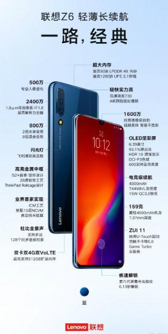 Lenovo Z6 Specifications