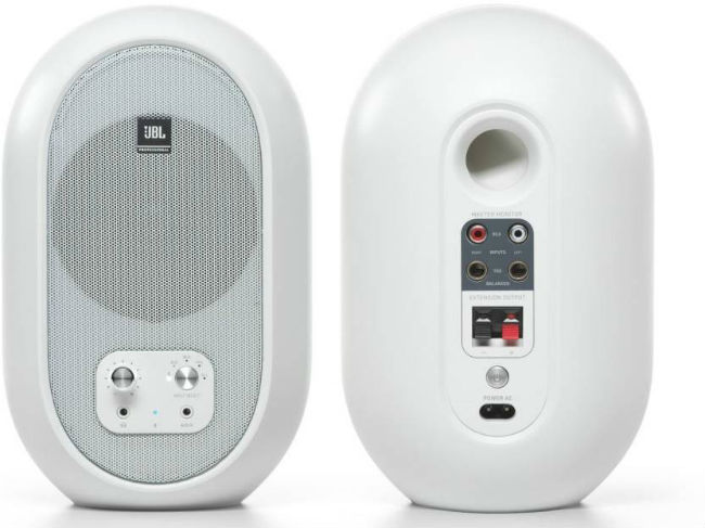 The JBL 104 look elegant in white