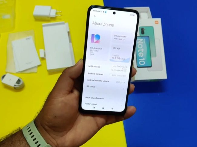 Redmi Note 10 features revealed in the unboxing video includes the always-on display