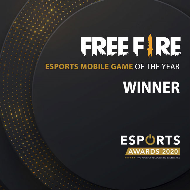 Garena Free Fire wins the award for ESport Mobile Game of the Year