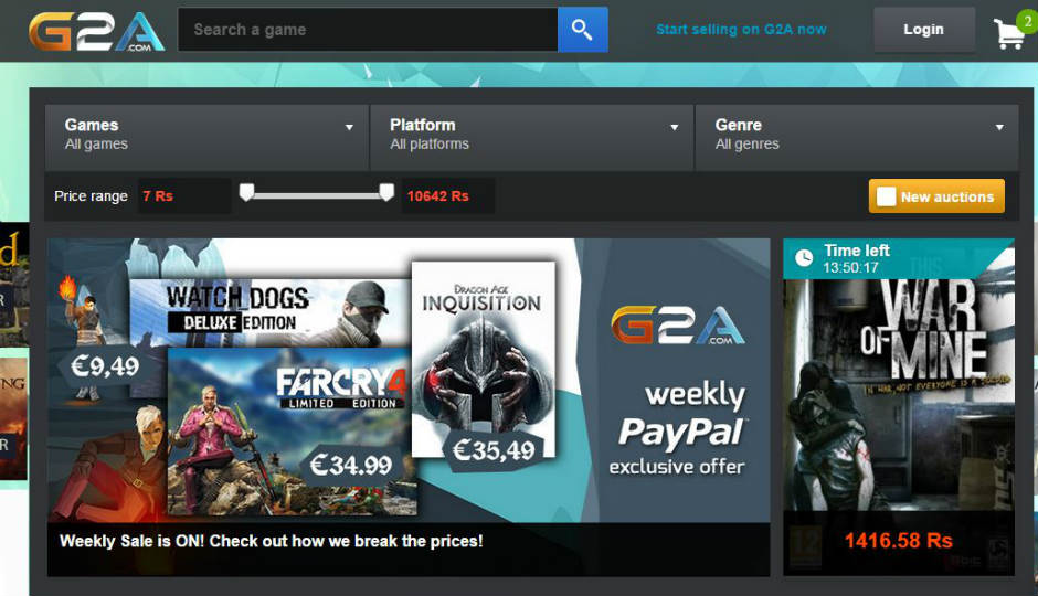 G2a An Unknown Site With Killer Deals On Pc Games