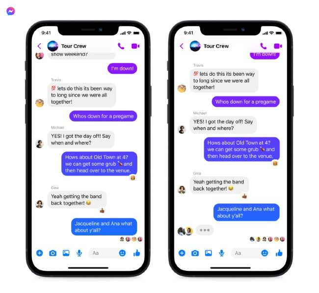 Other features coming to Facebook Messenger and Instagram group chats