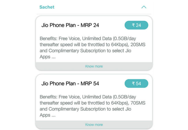 Reliance Jio updates Rs 153 plan for JioPhone users, offers 1GB data