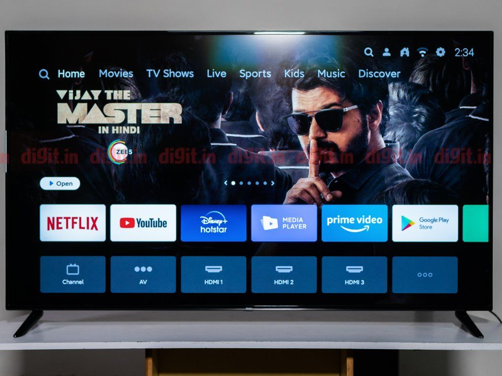 The Redmi X65 offers users PatchWall and Android TV UI.