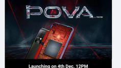Tecno Pova स्मार्टफोन भारत में 4 दिसम्बर को होने वाला है लॉन्च, यहाँ जानें सबकुछ