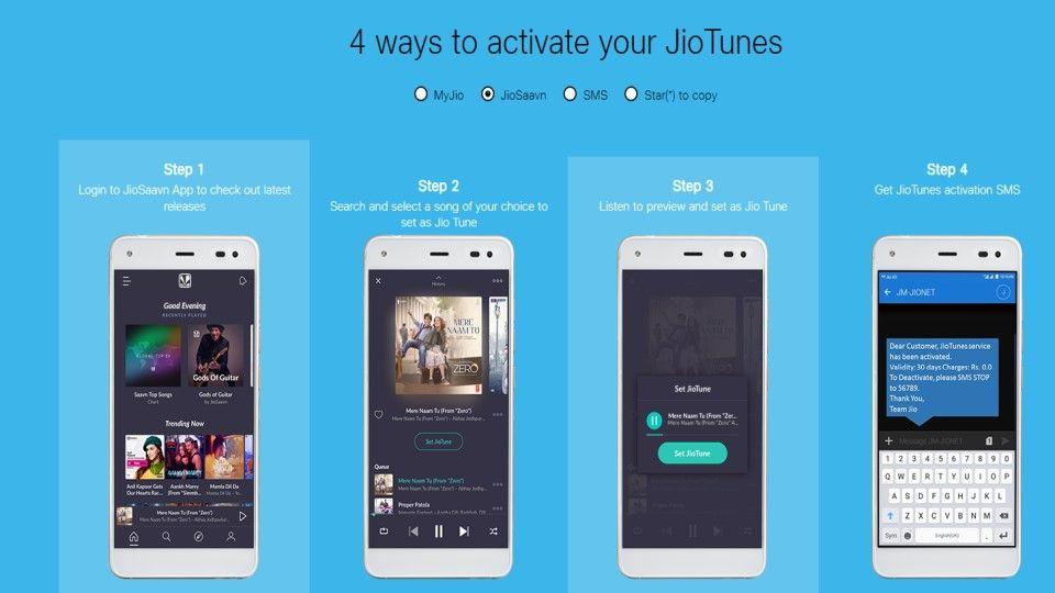 How to activate Jio Tunes via Jio Saavn app
