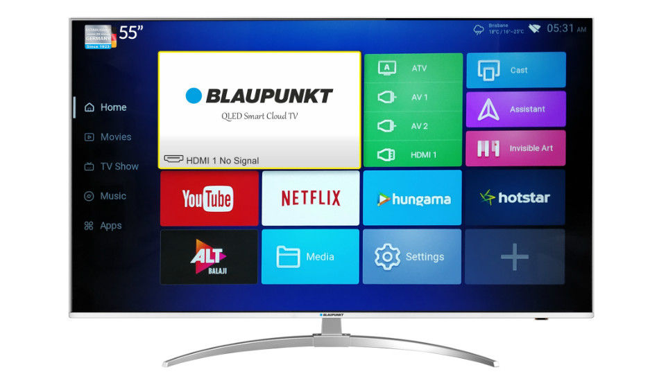 Blaupunkt launches 4K QLED Android 7 smart TV in India