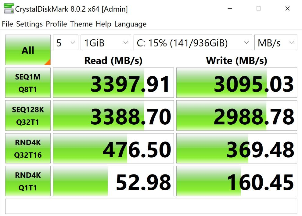 Dell XPS 13 9310 SSD Speed test
