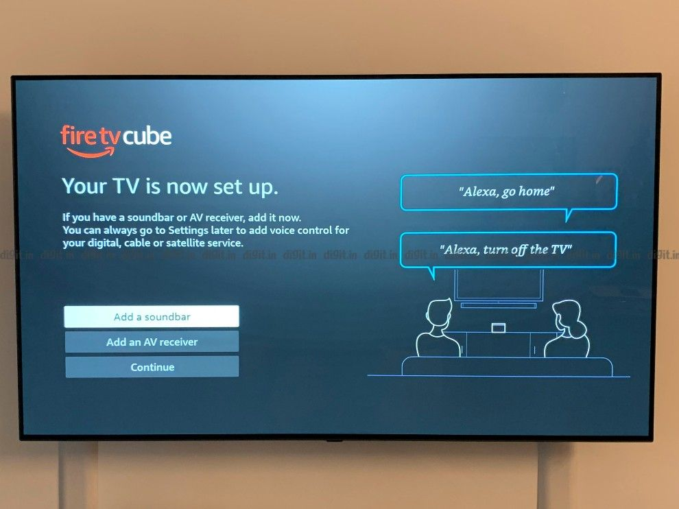 You can control your TV and soundbar using the Fire TV Cube.