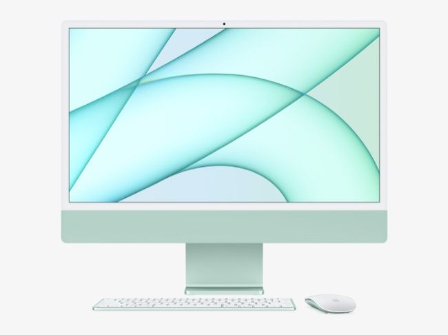 The new Apple iMac has been redesigned and is now more compact than ever measuring 11.5 millimetres