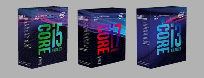 Intel Coffee Lake i3 i5 i7