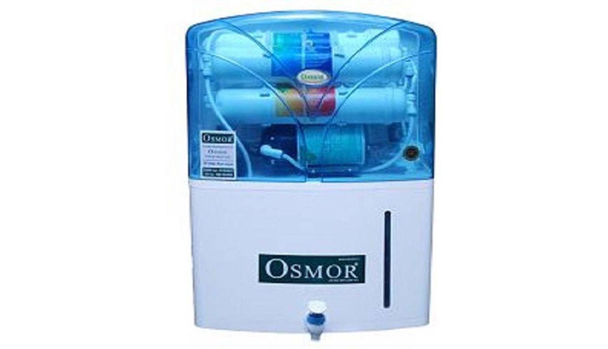 Osmor EXLCELLENT ECO PRO RO + Mini UF +Mini Alkaline 10 L RO + UF Water Purifier (White)