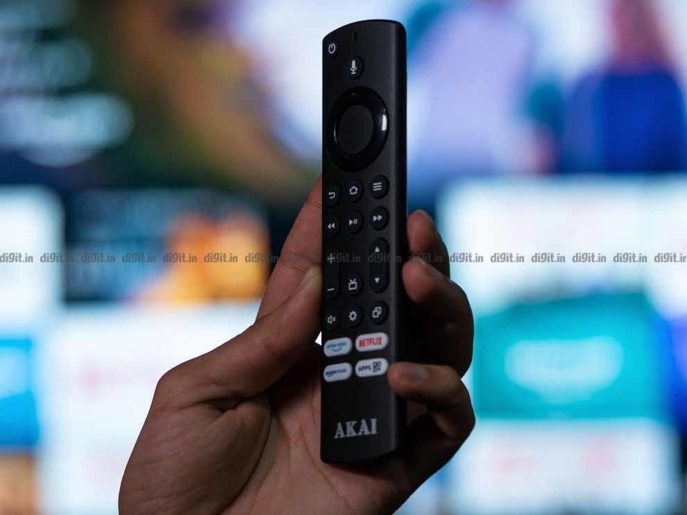 The Akai TV comes with a remote control similar to the one that comes with the Fire TV Stick.
