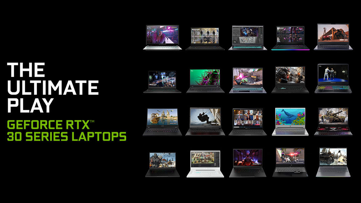 NVIDIA RTX 30 Mobile GPUs for Gaming and content creation Laptops CES 2021